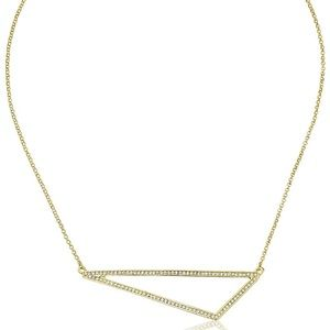 cc skye // gold pavé open sky triangle necklace